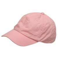 Ball Cap - Pink Youth Washed Chino Twill Cap