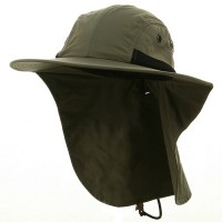 Flap Cap - Olive UV 4 Panel Large Bill Flap Hat