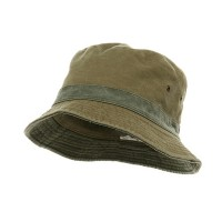 Bucket - Khaki Green Pigment Twill Bucket Hat