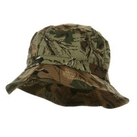 Bucket - Camo Khaki Cotton Bucket Hats Plaid Trim