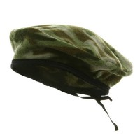 Beret - Green Camo Fleece Beret