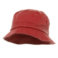 Bucket - Red Pigment Dyed Bucket Hats
