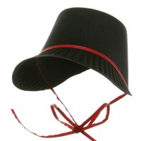 Costume - Red Thanksgiving Pilgrim Bonnet