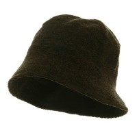 Bucket - Olive Winter Plain Chenille Bucket Hats