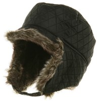 Trooper - Quilted Trooper Hat with Fur | Free Shipping | e4Hats.com