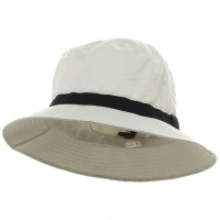 Bucket - White Navy Oversized Water Repellent Golf Hat