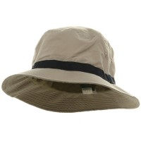 Bucket - Khaki Navy Oversized Water Repellent Golf Hat | Coupon Free | e4Hats.com