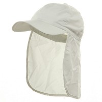 Flap Cap - White Brushed Sun Caps