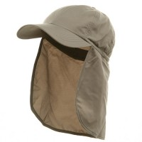 Flap Cap - Brushed Sun Caps | Free Shipping | e4Hats.com