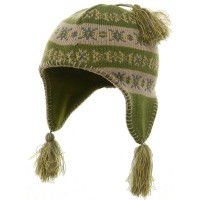 Beanie - Lime Girl's Knit Helmet