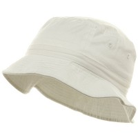 Bucket - White Youth Dyed Washed Bucket Hat