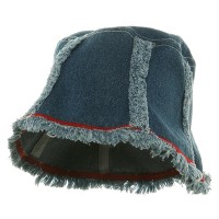 Bucket - Blue Plain Denim Washed Hat