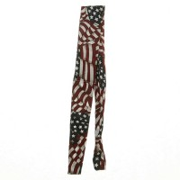 Band - Wavy American Flag Paisley Red Cool Band