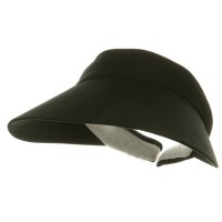 Visor - Black Large Peak Twill visor