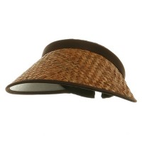 Visor - Large Straw Clip On Visor | Free Shipping | e4Hats.com