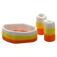 Band - Orange Yellow White Tri Color Head , Wrist B,