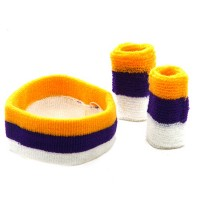 Band - Gold Purple White Tri Color Head , Wrist B,