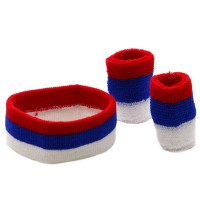 Band - Red Royal White Tri Color Head , Wrist B,