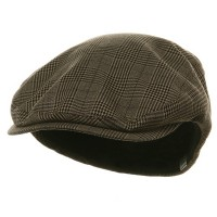 Ivy - Brown Big Size Elastic Plaid Ivy Cap