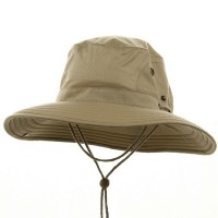Outdoor - Khaki Big Size Floatable Nylon Hat