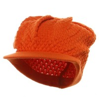 Beanie Visored - Orange Original Rasta Hat
