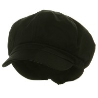 Newsboy - Black Big Size Cotton Newsboy Hat