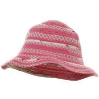 Bucket - Flower Twisted Toyo Hat | Free Shipping | e4Hats.com