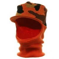 Face Mask - Orange Camo Camo Mask With Neck Gaiter