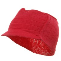 Beanie Visored - Hot Pink Summer Military Beanie Visor