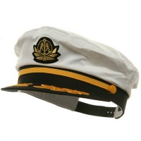Costume - White White Side Adjustable Cotton Ivy Cap