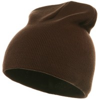 Beanie - Brown Grey Striped Campus Jeep Cap