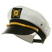 Costume - White Adjustable Child Yacht Cap