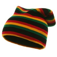 Beanie - Black RGY Yellow GreenRasta Long Beanie | Coupon Free | e4Hats.com