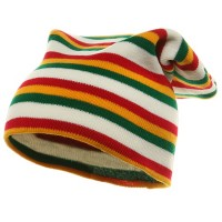 Beanie - Yellow GreenRasta Long Beanie | Free Shipping | e4Hats.com