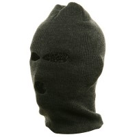 Face Mask - Grey Orange Tri Hole Ski Mask