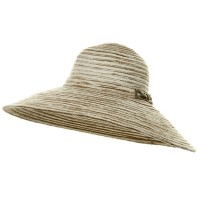 Dressy - Camel Knit Wide Brim Buckle Hat