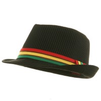 Fedora - Black Rasta Fedora Hat | Coupon Free | e4Hats.com