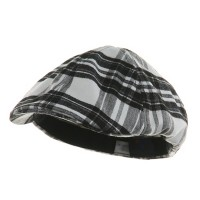 Ivy - White Black Plaid Design Ivy Cap