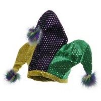 Costume - Sequin Mardi Gras Pom Hat