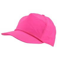 Ball Cap - Pink Nylon Crinkle Golf Cap