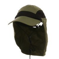Flap Cap - Khaki Ladies Moisture Neck Hat