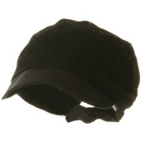 Outdoor - Black Ladies Jacquard Mesh Hat