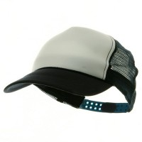 Ball Cap - White Navy Youth Polymesh Cap