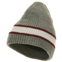 Beanie - Forest GreenCenter Stripe Beanie | Free Shipping | e4Hats.com