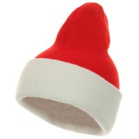 Beanie - Red White Two Tone Cuff Beanie USA