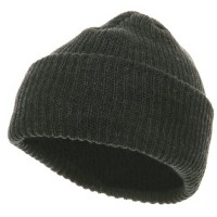 Beanie - Charcoal Solid Plain Watch Cap Beanie