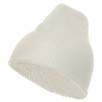 Beanie - White G.I.Cuffless Watch Cap