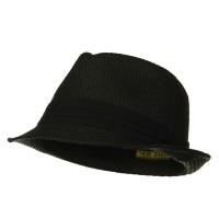 Fedora - Black Black Over Size Fedora Hat
