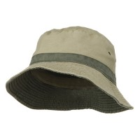 Bucket - Khaki Green Big Size Reversible Bucket Hat