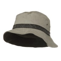 Bucket - Putty Black Big Size Reversible Bucket Hat